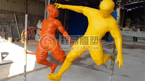 玻璃钢体育运动人物雕塑